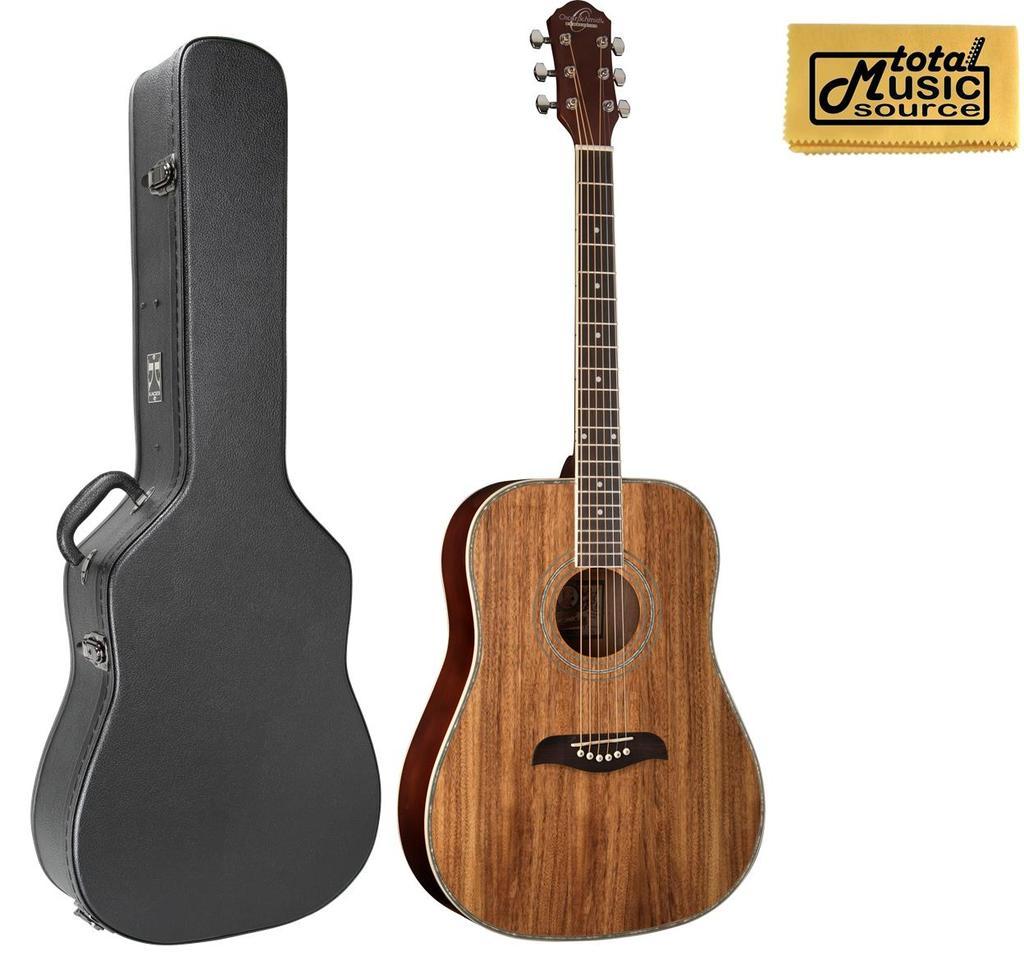 a6df40046e9 Details about Oscar Schmidt OG2 Dreadnought Acoustic Guitar - Koa W/Case,  OG2KOA CASE