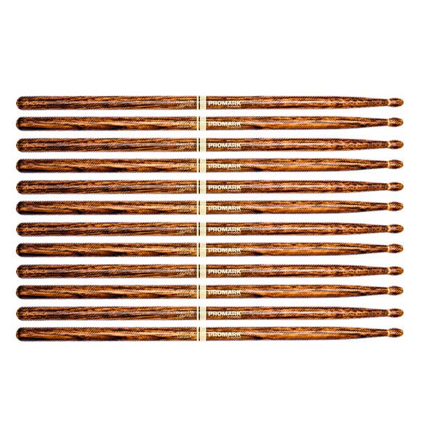 Promark Classic 5A FireGrain Drumsticks Heat-Tempered Hickory