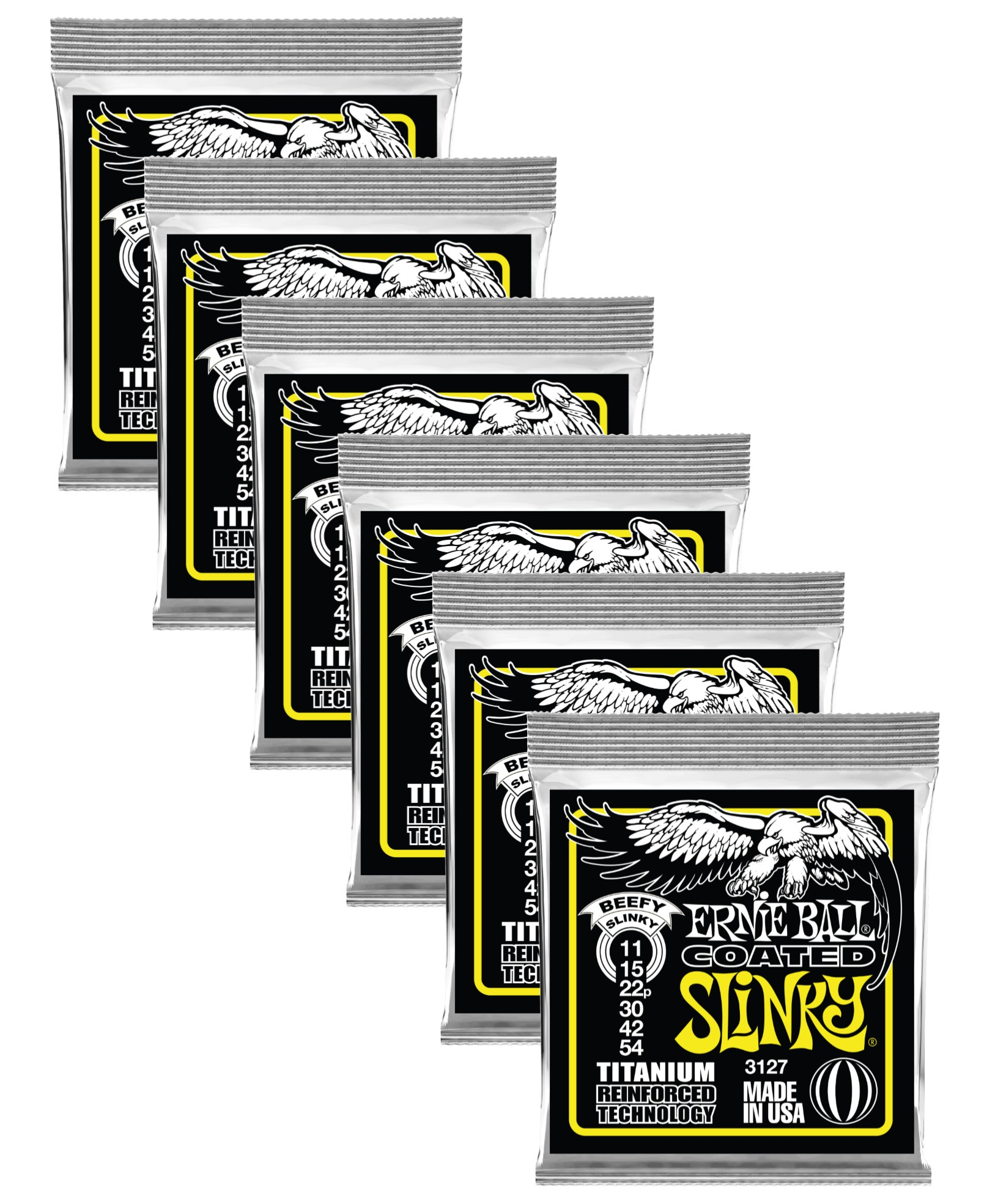 11-54 Ernie Ball Paradigm Coated Beefy Slinky Electric Guitar Strings