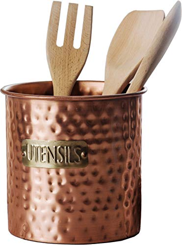 Details about Kitchen Utensil Holder Crock Organizer Caddy for Large  Cooking Tools Copper